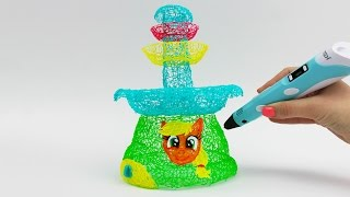 Applejack Chocolate Fountain Draw with 3D PEN My Little Pony Video for Kids