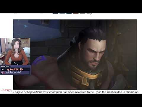 Pokimane Reacts to League of Legends newest champion Sylas the Unshackled