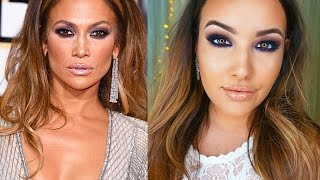Jennifer Lopez Golden Globes Makeup Tutorial 2015