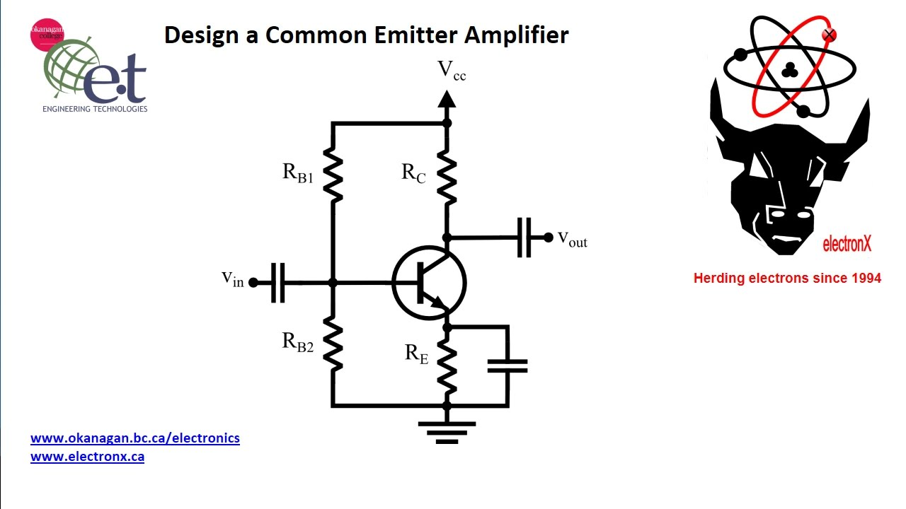 design a simple common emitter amplifier [ 1280 x 720 Pixel ]