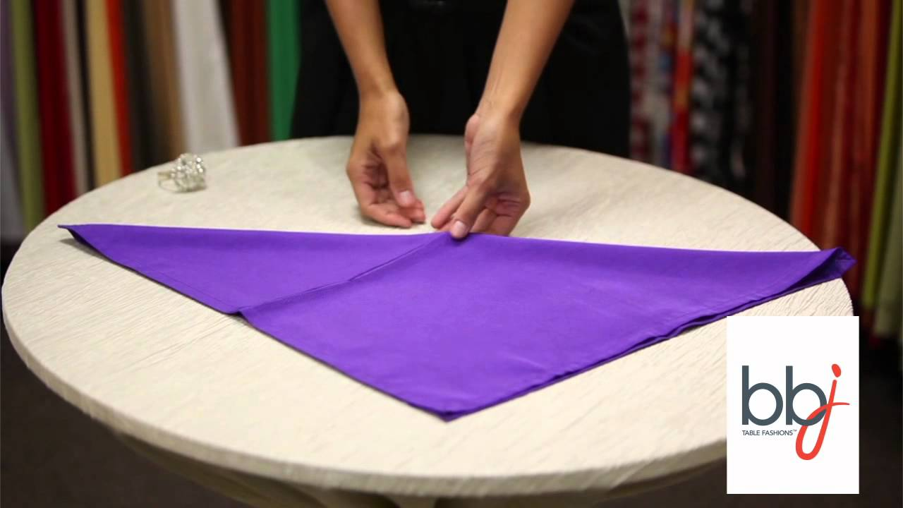 BBJ Linen: How To Place A Napkin Ring Accessory Around Your Linen Rental    YouTube