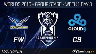 FW vs C9 - World Championship 2016 - Group Stage Week 1 Day 3