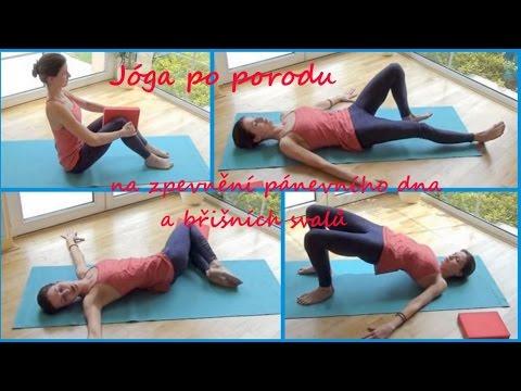 Jóga po porodu -  cvičení na zpevnění pánevního dna a břišních svalů