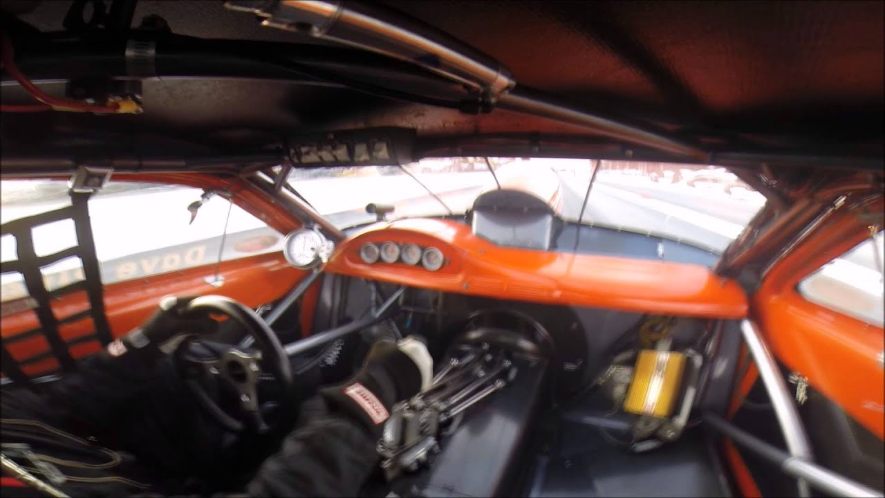 In Car View Of Dave River In The River Racing Pro Stock Nhra Drag