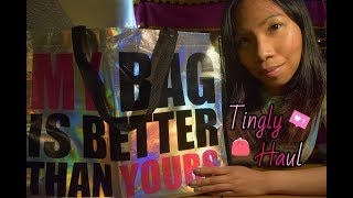 ASMR: Tingly Shopping Haul 💄👟   Whispers + 10 Binaural Triggers