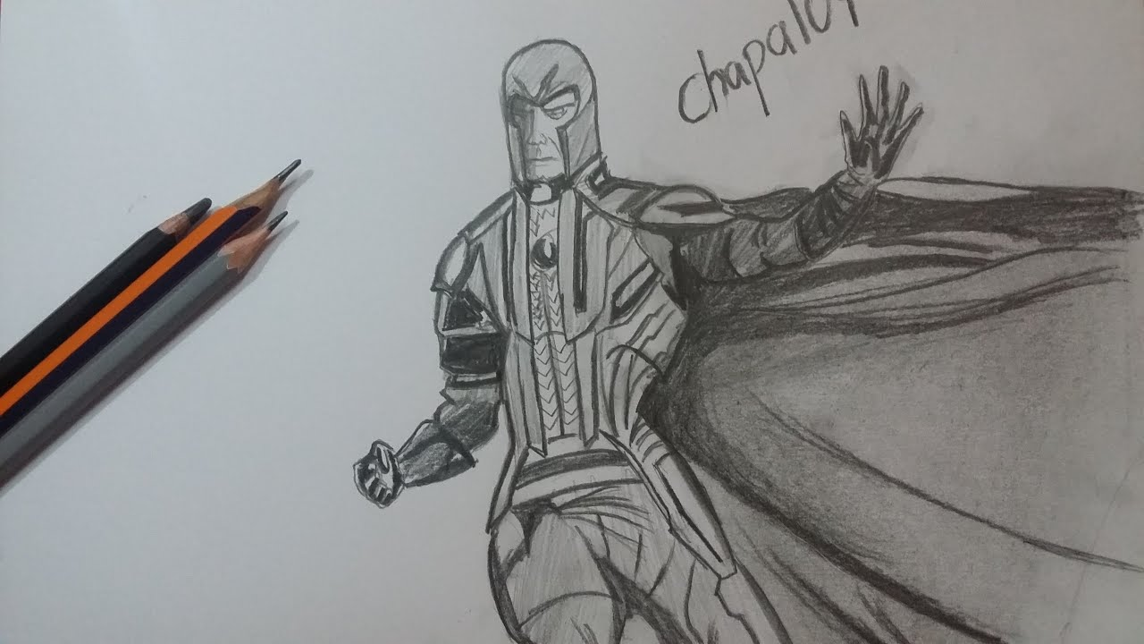 Dibujo de Magneto: X-Men Apocalipsis/Drawing Magneto: X ...