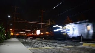 """Illinois DOT/Siemens SC-44 """"Charger"""" Stability Test Train @ Princeton Junction"""