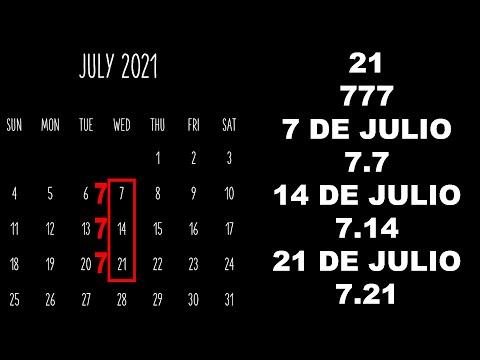 LA SIMBOLOGÍA QUE OCULTA EL NÚMERO 7 Y EL MES DE JULIO DE 2021