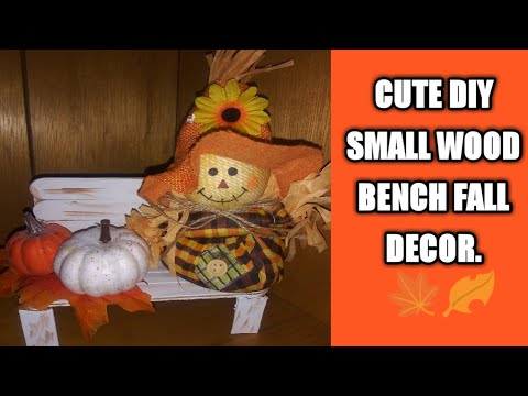 Fall Decor-Cute diy small wood bench .🍁🍂