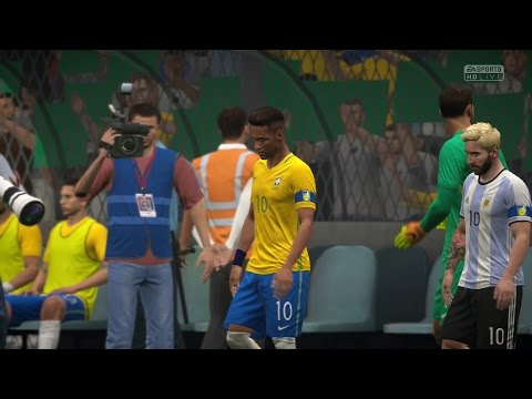 FIFA 17 | Brazil vs Argentina - Full Gameplay (PS4/Xbox One)