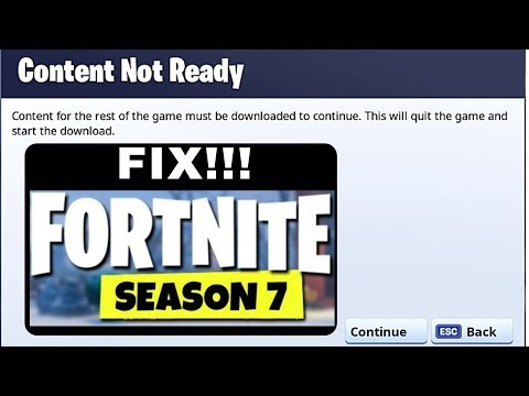 How To Fix Fortnite Save The World  Content For The Rest Of The Game Must Be Downloaded To Continue.