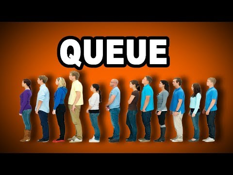 Learn English Words: QUEUE - Meaning, Vocabulary with Pictures and Examples