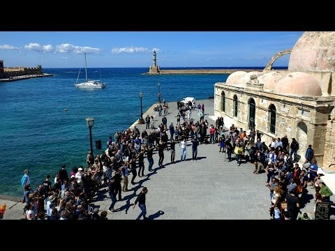 FlashMob @ Chania   Dancing with a Cretan Heart   Apr 2014