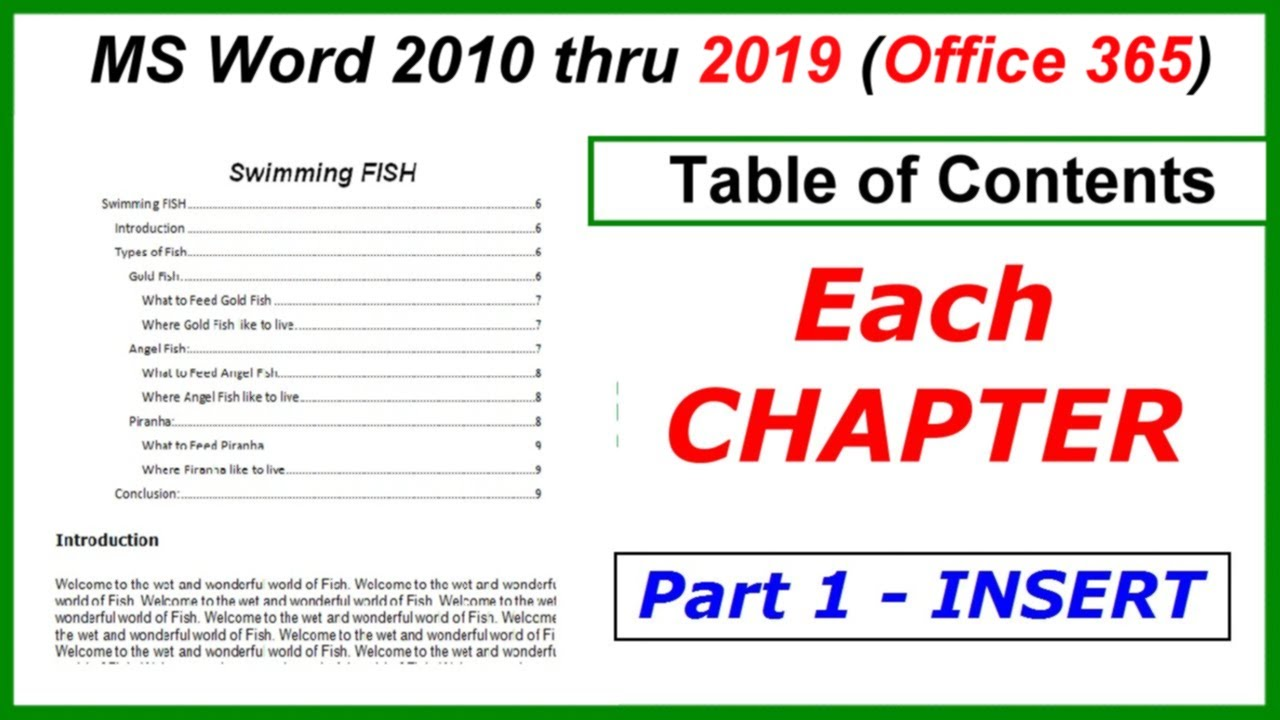 Master thesis table of contents template for microsoft