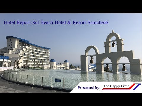Blue houses in South Korea!!!-Hotel Report:Sol Beach Hotel &