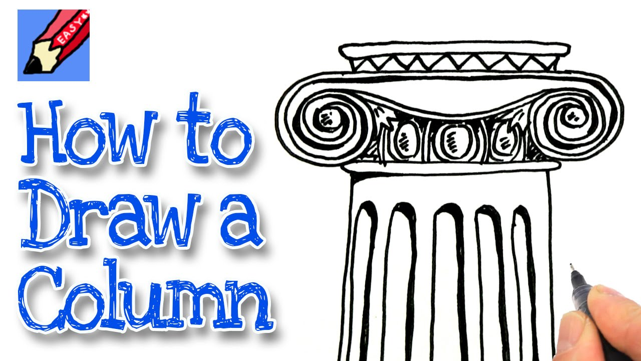 How to draw an Ionic Column Real Easy  YouTube