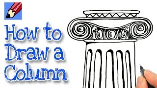 How to draw an Ionic Column Real Easy