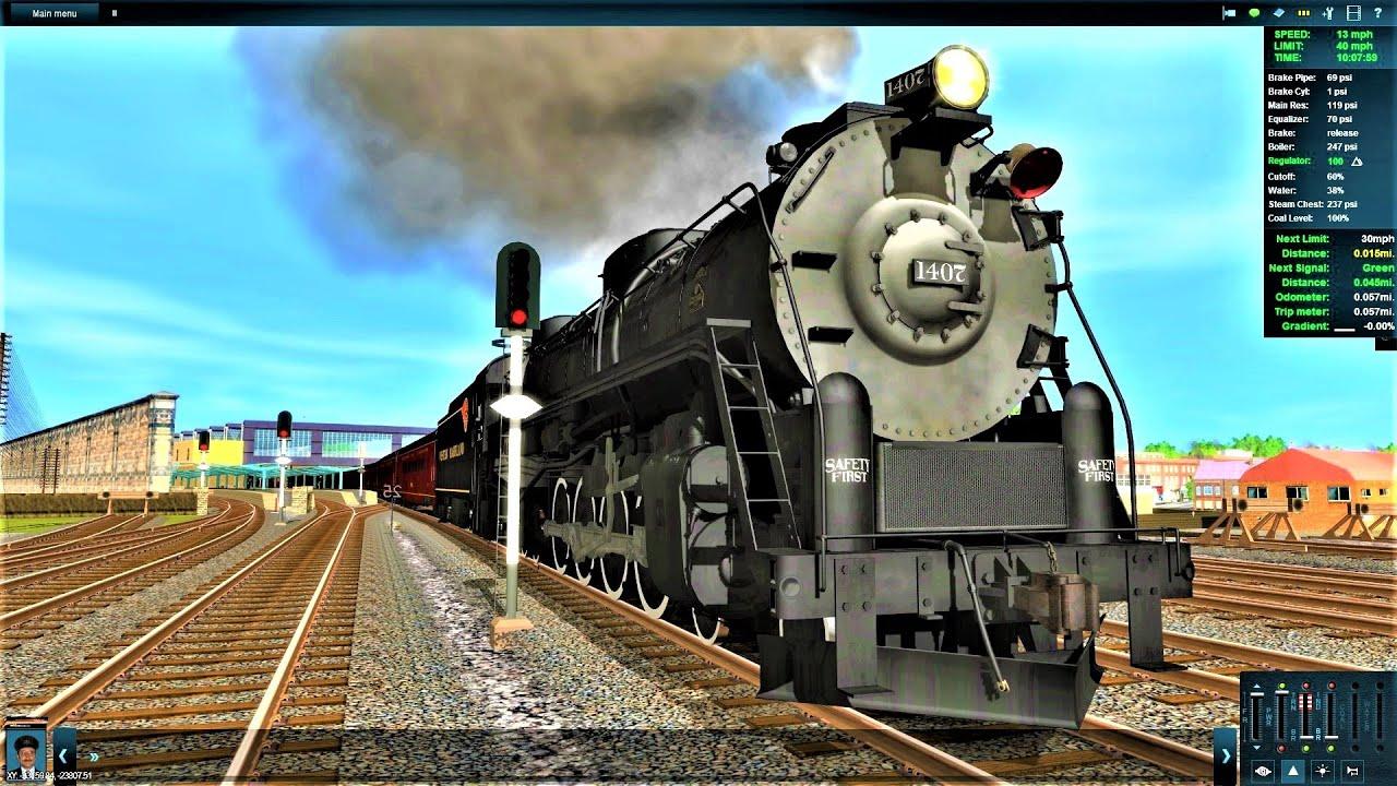 Trainz - WM Potomac 4-8-4 vs PRR M1b hauling 2000 tons stock