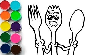 Dibuja y Pinta a Forky de Toy Story 4 - Dibujos Para Nios  FunKeep