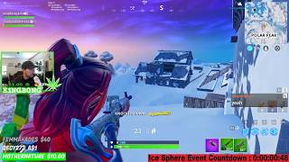 Fortnite Ice Storm Full Event Giant Lich King & Blizzard Turns To New Ice Map 🔵 KingBong 420