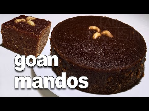 Coconut and Jaggery Sweet | Authentic Goan Mandos Recipe - YouTube ||*Fatima Fernandes | Goan Recipe
