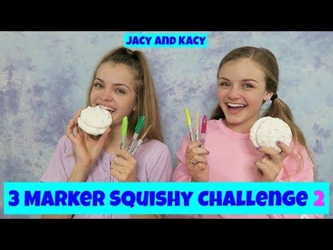 3 Marker Squishy Challenge 2 ~ Jacy and Kacy