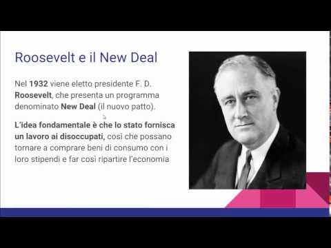I ruggenti anni 20 e il New Deal (video lezione)