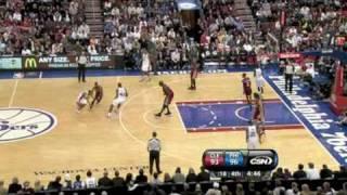 cavaliers vs sixers nba highlights 12 16 2009