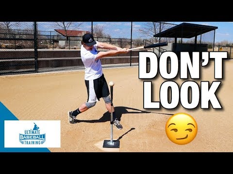 """Instantly Improve Your Batting Average (""""No Look"""" Baseball Hitting Drill)"""