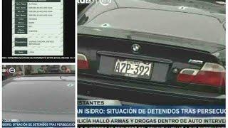 San Isidro: Situación de detenidos tras persecución con balacera