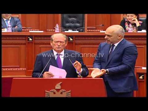 Batutat e Ramës dhe Berishës në foltoren e Kuvendit  - Top Channel Albania - News - Lajme