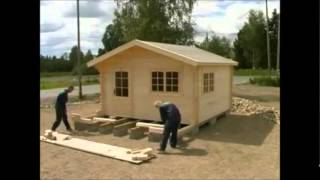 Allwoodoutlet.com Lillevilla Garden Cabin Installation