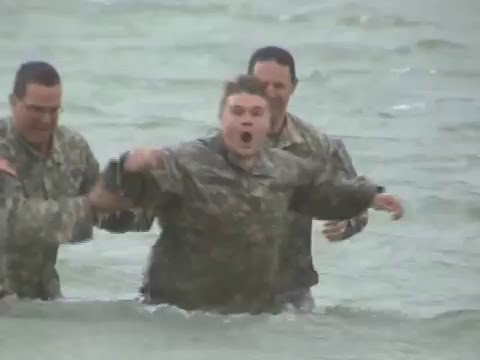 Download Youtube: Amazing, Real, and Beautiful Euphrates River soldier baptism outside of Rawa, Anbar, Iraq.