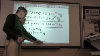 Astronomy 100 Example Numerical Problems Two