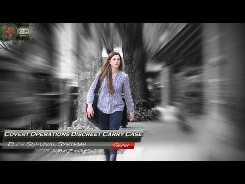 Woman Carries MP-5 Downtown! Covert Operations Discreet Carry Case by Elite Survival Systems