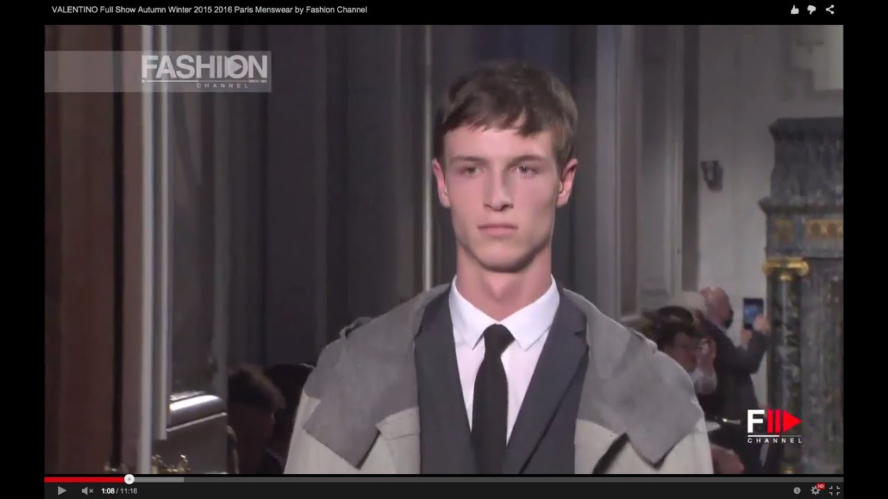 VALENTINO Full Show Autumn Winter 2015 2016 Paris Menswear by Fashion Channel