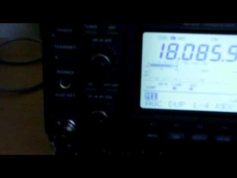 ICOM 746 CW filter test