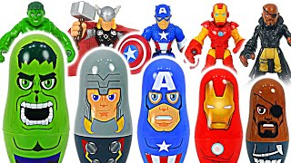 Hulk and Iron Man transform into nesting doll! | DuDuPopTOY