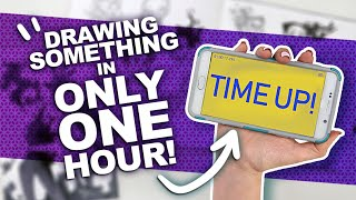 CONCEPT, SKETCH, & COLOR, ALL IN ONE HOUR!? | Filling a Spread in My Sketchbook