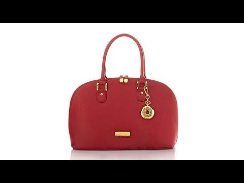 a21c40593ddd Joy IMAN 22Section Luxe Genuine Leather Handbag Watch - YouTube