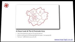 Buy Postcode Maps London UK Birmingham Glasgow Map-Logic