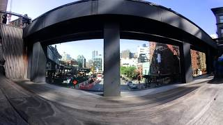 360 video: Exploring the High Line, NYC's elevated urban park