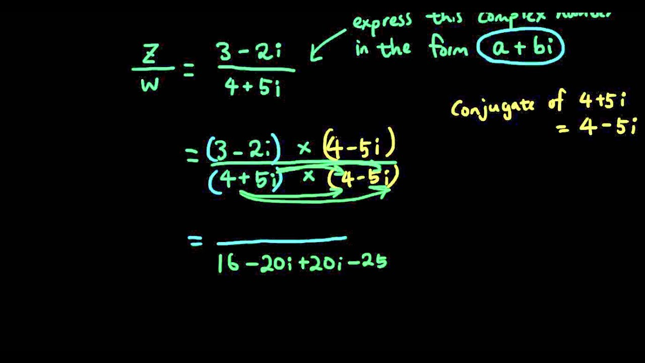 Complex numbers lesson 18 - Division in standard form using ...