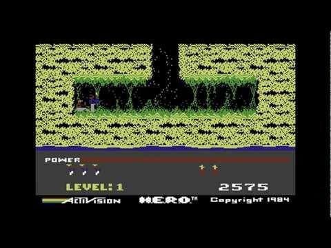 C64Zilla Commodore 64 H.E.R.O Game Review Hero C64