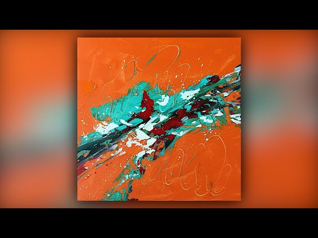 Abstract Painting / Relaxing / Acrylics / Palette Knife / Demo #068
