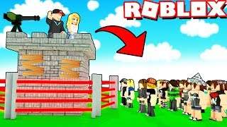 BAZA VS WIDZOWIE W ROBLOX! (Roblox Base Raiders) | VITO I BELLA