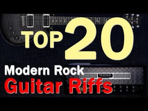 Top 20 Modern Rock Guitar Riffs/Intros from 90s-2000s
