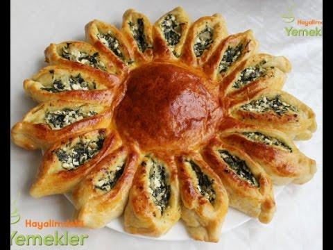 Güneş Börek ( Ispanaklı Peynirli )