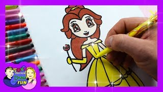 How to Draw Disney Princess Belle from Beauty and The Beast Nice and easy