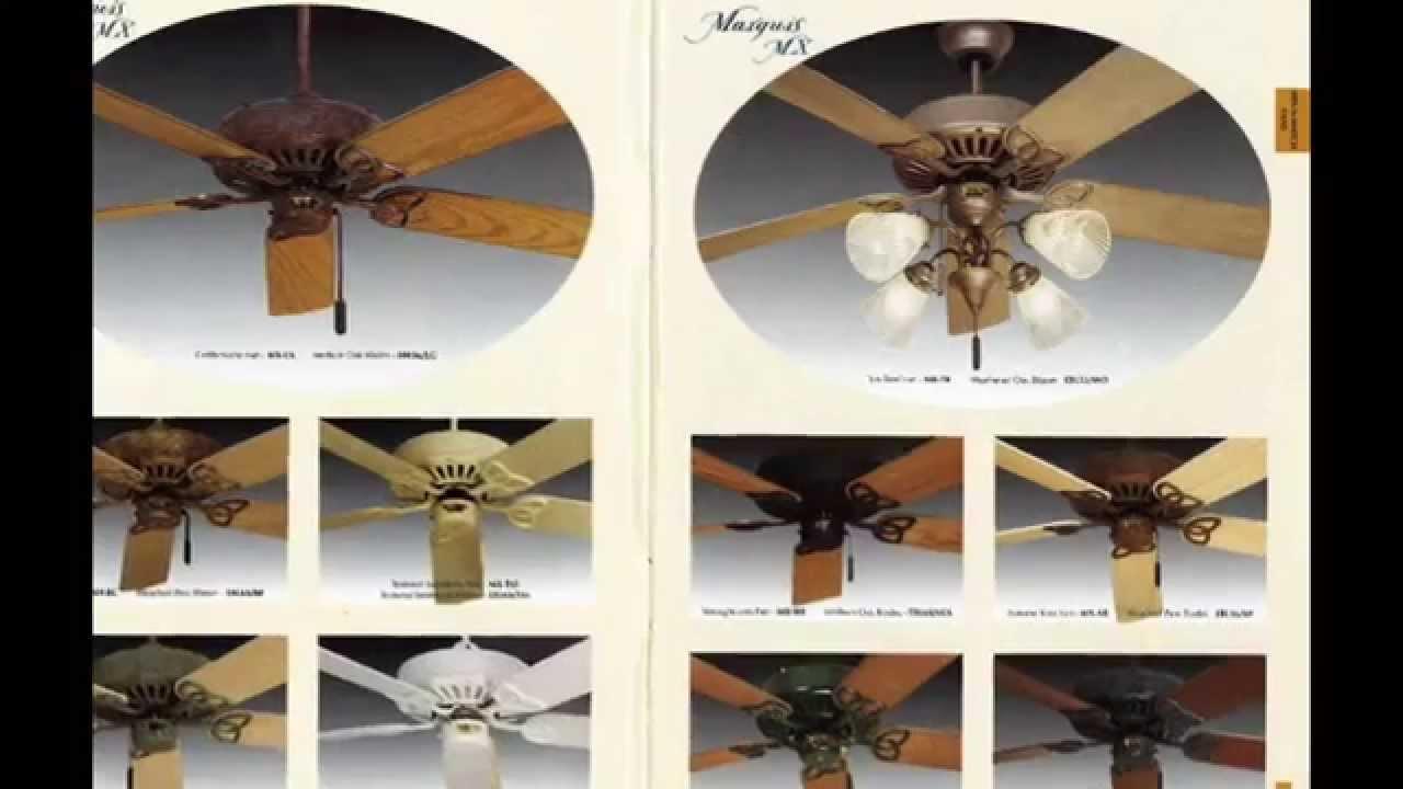 Regency Ceiling Fan Catalog from 1997 - YouTube